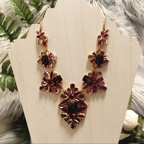 INC International Concepts Jewelry - INC Burgundy Lace Necklace